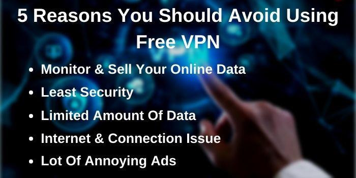 reasons to stop using free VPN