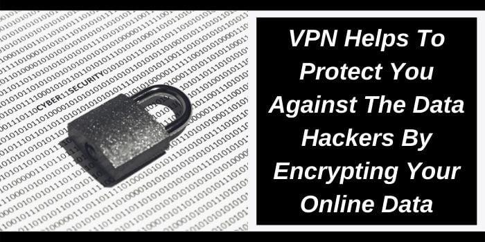 VPN encrypts all your online data