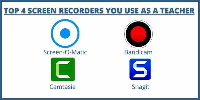 TOP 4 Screen Recorders You Use As A Teacher