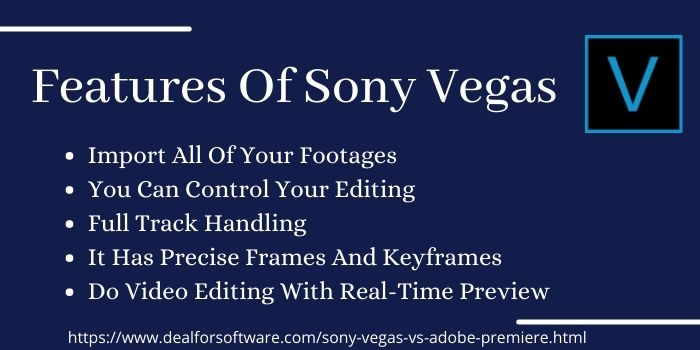 Features Of Sony Vegas (2)